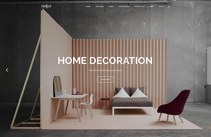 deKor Interior WordPress Theme