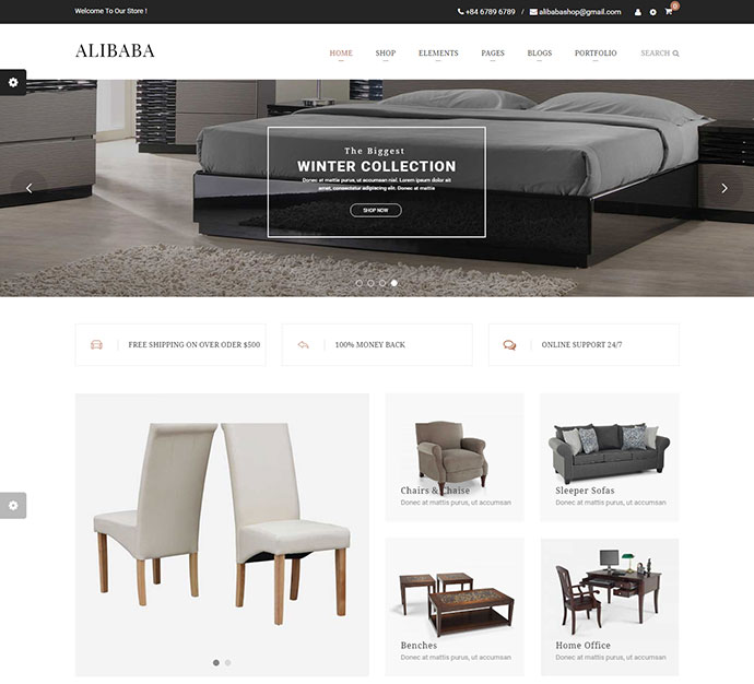 Alibaba   Shopping & Furniture Responsive WooCommerce WordPress Theme