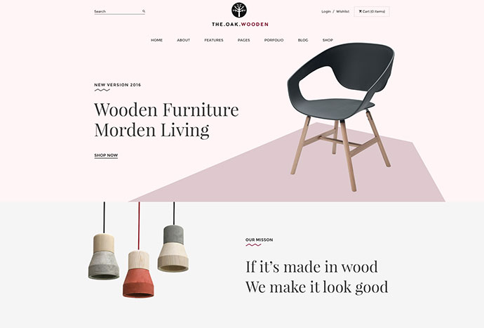 WordPress WooCommerce Theme for Furniture Decoration Design eCommerce Store