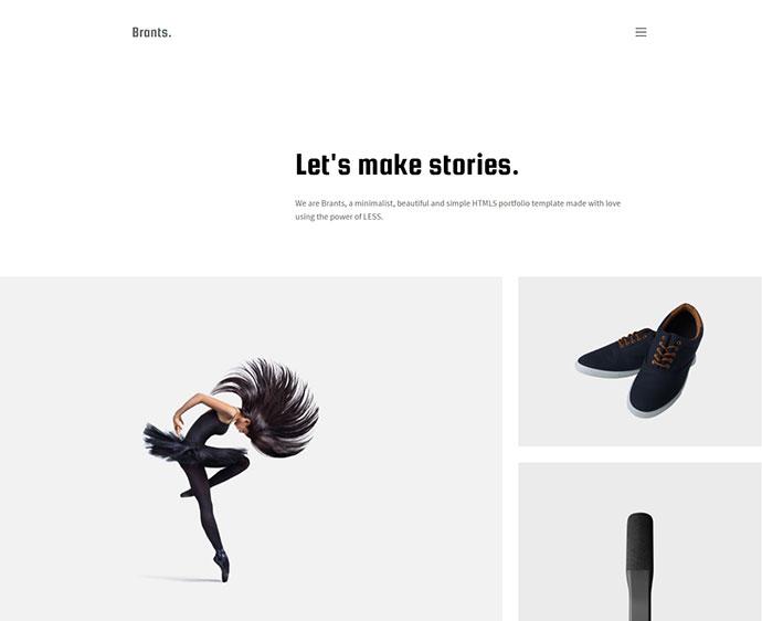 Brants - Minimalist HTML5 Portfolio Template