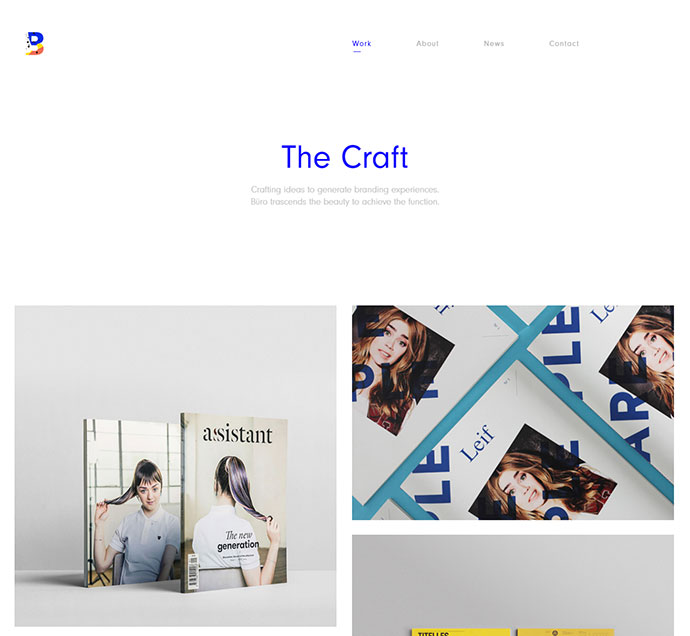 Buro - Minimal Bootstrap & Typography Portfolio Template