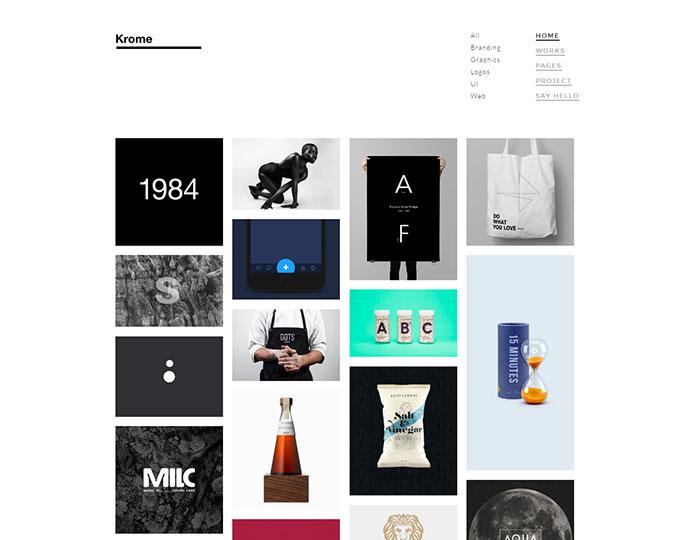 KROME - Pure & Minimal Creative Portfolio / Agency / Photography Template