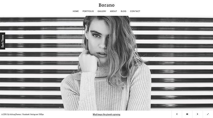 Borano - Photography / Portfolio Template