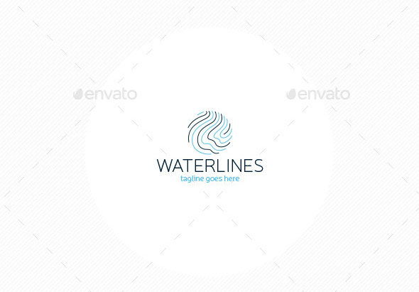Water Lines Logo