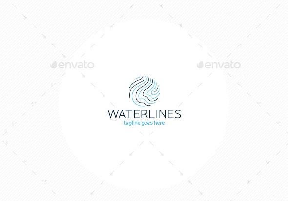 Water Lines Logo