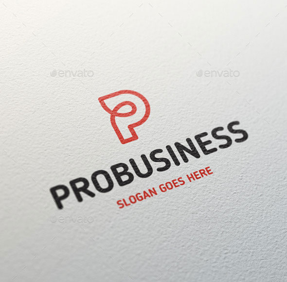 Probusiness Letter P Logo Template