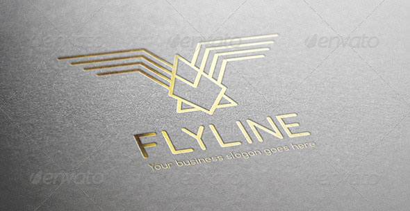 Fly Line Bird Logo