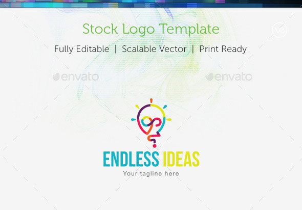 Endless Ideas Stock Logo Template