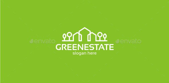 Green Estate - Logo Template