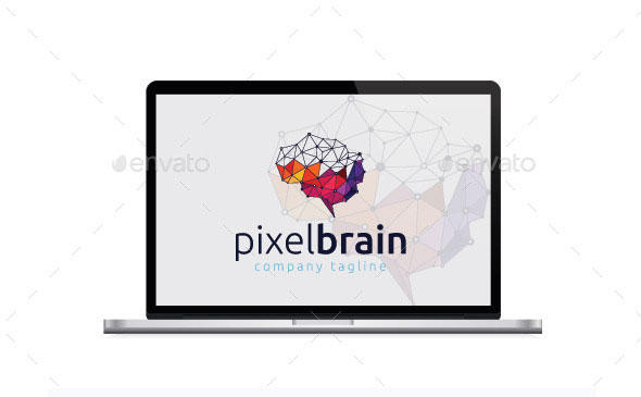 Pixel Brain Logo Templates