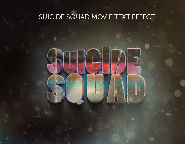 Suicide Squad Movie Text Effect
