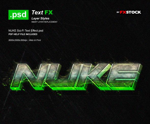 NUKE Sci-Fi Text Effect