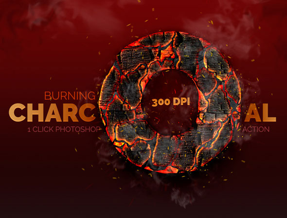 Burning Charcoal - Photoshop Action