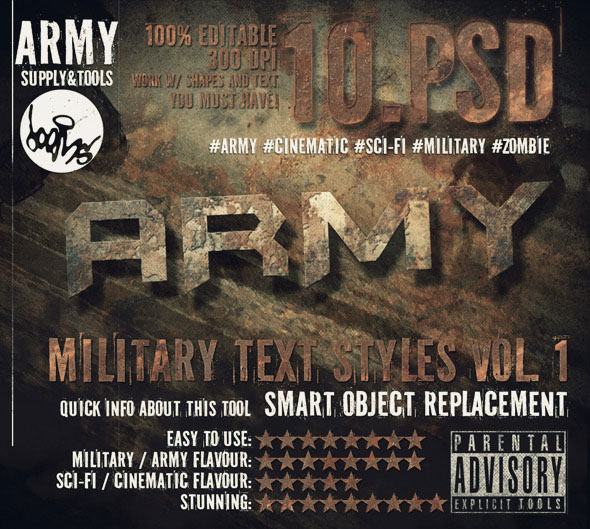 Military Army Cinematic Sci-fi Text Effects