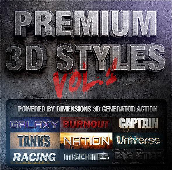 Dimensions - Premium 3D Styles