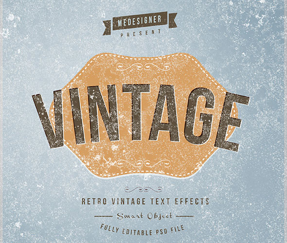 14 Retro / Vintage Text Effects