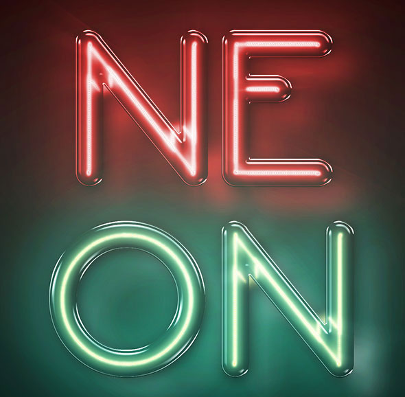 Neon Text Effect - Photoshop Actions A4