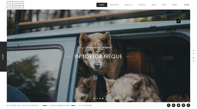Outdoor - Creative Photography/Portfolio WP Theme