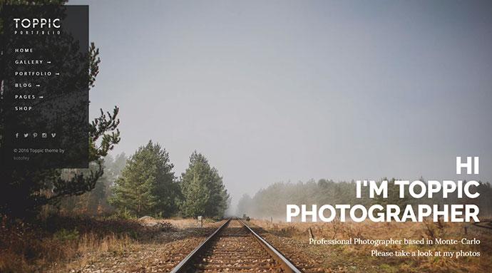 TopPic - Photography Portfolio Theme