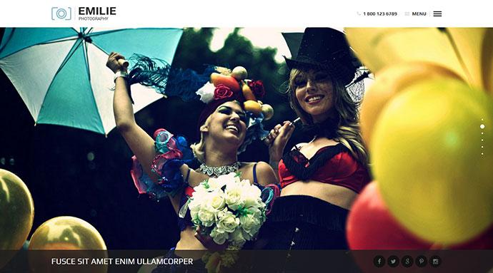 Emilie - Photography Portfolio WordPress Theme
