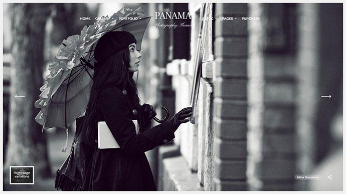Photography WordPress Theme: Portfolio & Transitions: Panama