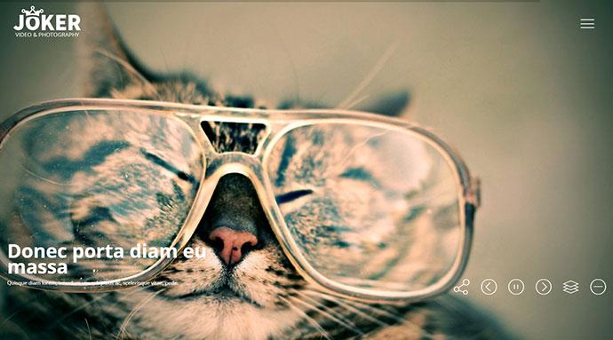Joker - Photo & Video Portfolio WordPress Theme