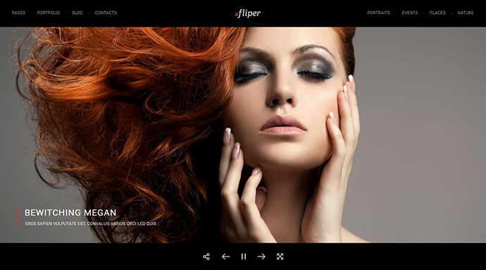 Photo Fullscreen WordPress Theme - Fliper