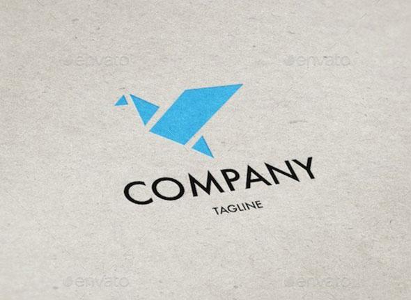 Origami Bird Logo Template