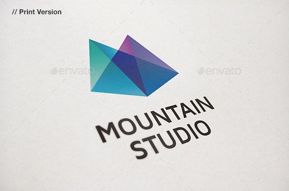 Mountain Studio - Abstract Logo