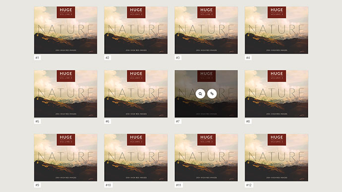 Pure CSS Image Hover Effects