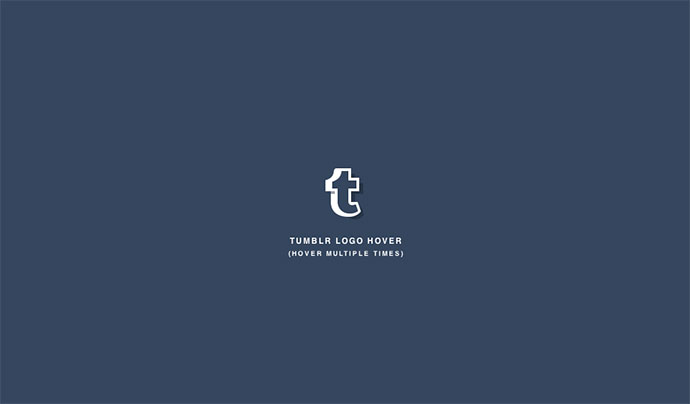 Tumblr Logo Hover
