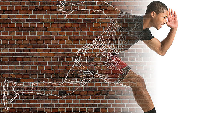 Transform Someone into a Huge Chalk Drawing on a Brick Wall