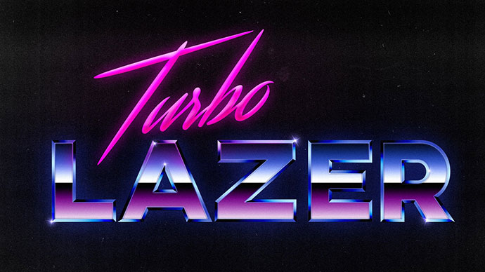 80s Style Chrome Logo Text Effect