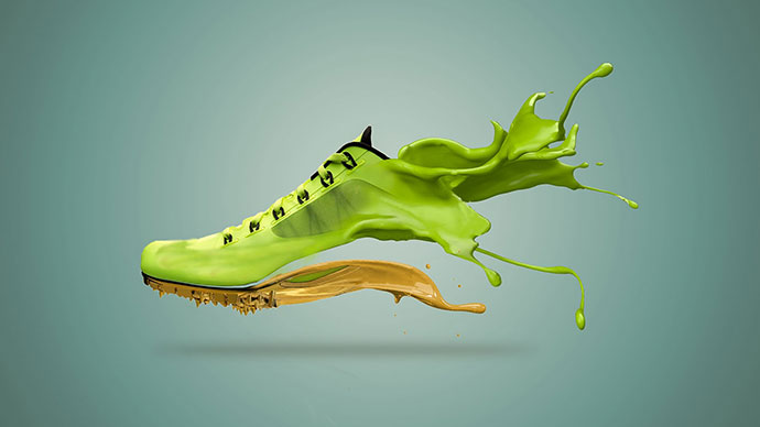 Shoe Paint Splash