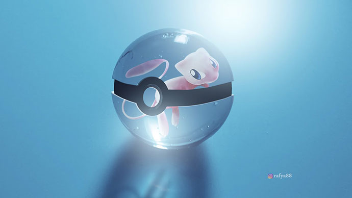 Fantasy Glass Pokeball