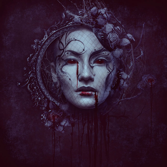 Dark Gothic Portrait Photo Manipulation