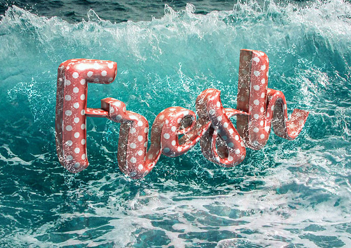 3D Floaties Text Effect