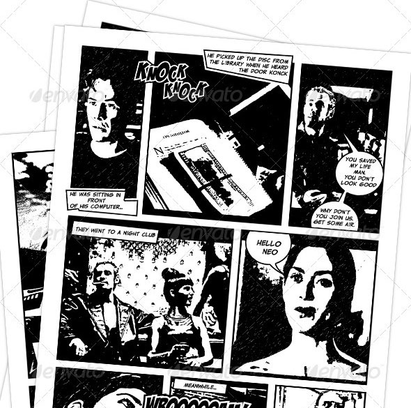 Comic Book Creation Kit Black & White