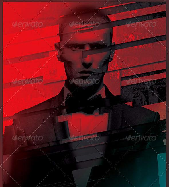 Diagonal Mask Photo Effect Template