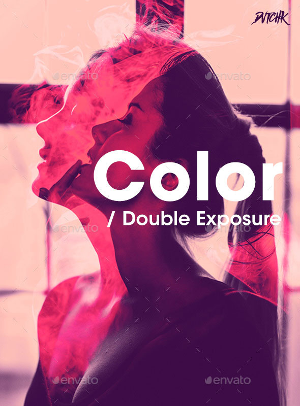 Color - Double Exposure Photoshop Photo Template