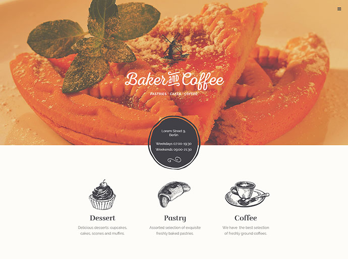 Baker & Coffee .PSD Template