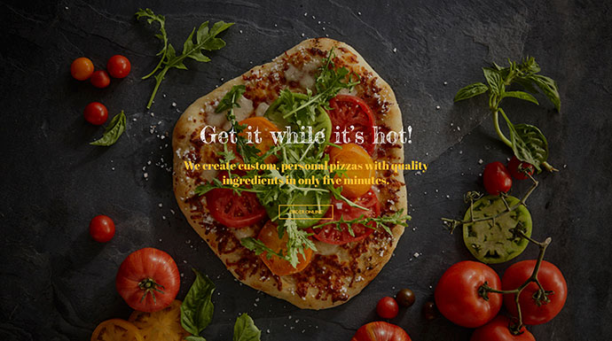 Margherita - Online Ordering Pizza Restaurant PSD