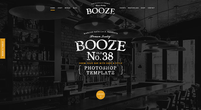 Booze Photoshop Bar Template