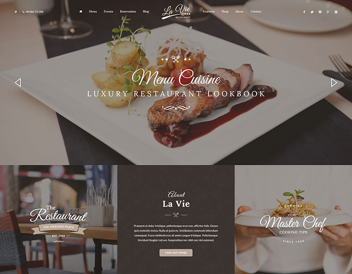 Catering - Restaurant & Cafe PSD Template