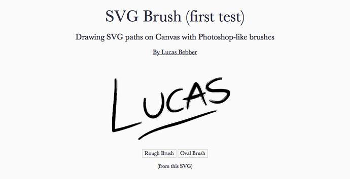 SVG Brush (first test)