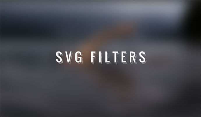 SVG Filters for text