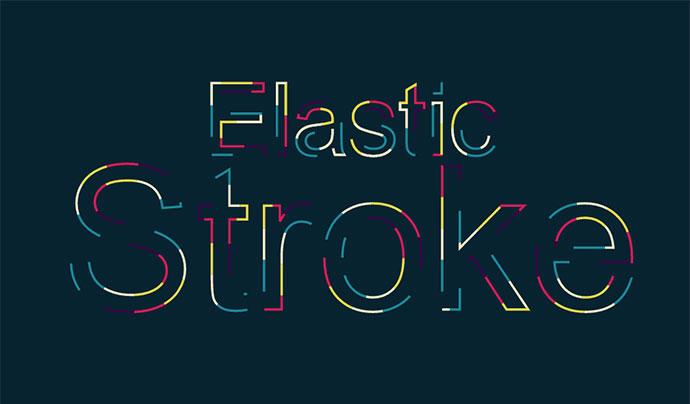 Elastic stroke CSS + SVG