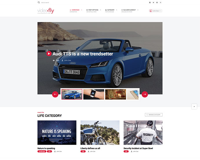 Videofly - Video Sharing & Portal Theme