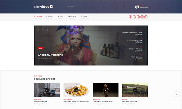 Slimvideo - Video WordPress Community Theme