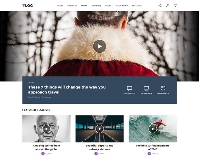 Vlog - Video Blog / Magazine WordPress Theme